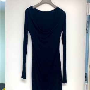 THEORY TRICOT DRESS IN BLACK